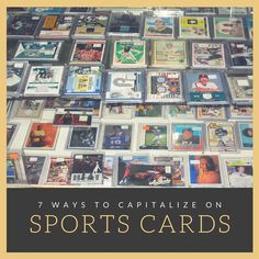 7 Ways to Capitalize on Sport Cards The sports card industry is full of opportunities each season (and off-season) to set yourself up for success. So how can you capitalize on sport cards? Selling Baseball Cards, Baseball Card Shop, Where To Sell, Legitimate Work From Home, Winning Numbers, Collectible Cards, Do You Work, Money Today, Nfl Sports