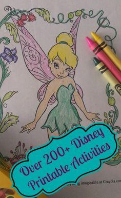 Over 200+ Disney Printable Activities!