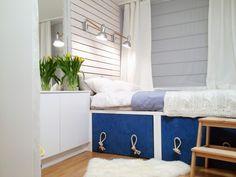Skandynawski styl – sypialnia – Biuro Projektowe – Dorota Szelągowska Entryway Bench, Living Spaces, Interior Design, Bedroom, Inspiration, Furniture, Home Decor, Entry Bench, Nest Design