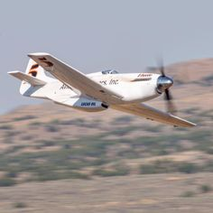 """#5 """"Voodoo"""" leads the Gold Race down the Valley of Speed at the Reno Air Races. Reno 2017."""