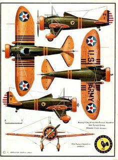 Boeing P26A   werd gebruikt in de tweede wereld oorlog