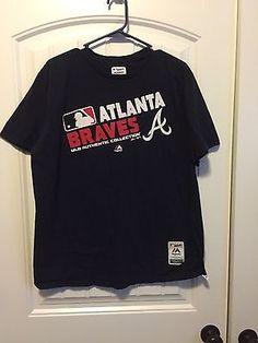Atlanta Braves Genuine MLB Merchandise t-shirt SZ XL MAJESTIC VERY NICE PREOWNED