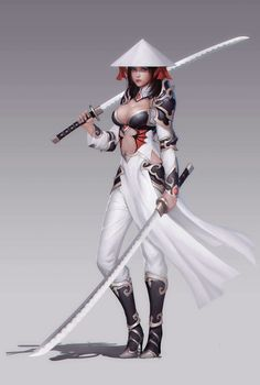 Warrior girl in man-weakening outfit Fantasy Character Design, Character Design Inspiration, Character Art, Character Ideas, Character Concept, Warrior Girl, Fantasy Warrior, Fantasy Samurai, Warrior Princess