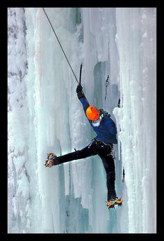 Ice climbing festival, Pont-Rouge, Quebec, Canada Copyright: Marc Cl (Manamo)