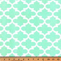 Quatrefoil Fabric Fulton Mint by Premier Prints Inc