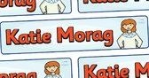 Katie Morag Display Banner - Katie Morag, banner, display, sign, poster, Mairi Hedderwick, story, fine motor skills, scotland, scottish, book, resources, story book