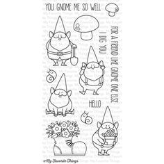 My Favorite Things YOU GNOME ME Clear Stamps BB15