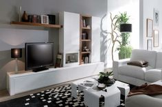 meuble télé en blanc