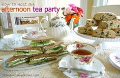 decor+for+an+elegant+tea | Host An Afternoon Tea Party! {includes Classic Tea Sandwich recipe ...