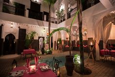 Patio of the Riad Pachavana. Ideal to eat and relax