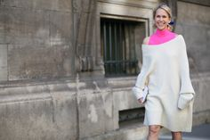 84 Outfit Ideas For Style Extroverts #refinery29  Paris Fashion Week 2015  Sleeveless turtleneck + sweater