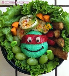 The Ninja Turtle Raphael Bento Lunch キャラ弁