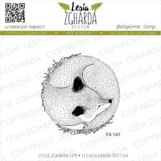 Tampons transparent Lesia Zgharda - Sleeping Fox - Cartoscrap Tampons Transparents, Buy Stamps, Scrapbooking, Forest Animals, Make Design, Clear Stamps, Birthday Party Themes, Cute Animals, Card Making