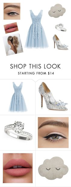 """Sin título #14"" by karolina-osuna ❤ liked on Polyvore featuring Jimmy Choo, Love Couture and Bloomingville"