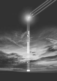 Li-fi Tower Concept Sketch