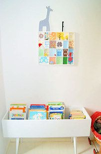 Turn just about anything into a library. | 49 Clever Storage Solutions For Living With Kids