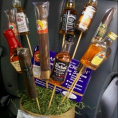Cute gift basket idea for a guy!