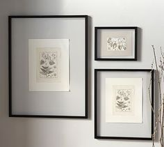 Floating Wood Gallery Frame - Black #potterybarn