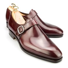 http://chicerman.com  carminashoemaker:  Plain toe monk strap shoes in Horween Shell Cordovan in Burgundy from Horween leather. Featuring a bark-tanned leather double sole from Rendenbach Jr. in a refined Goodyear welt-construction and calf lining. Style made on soft chiseled Rain last. Semi-squared shaped last with wide fitting.  #menshoes