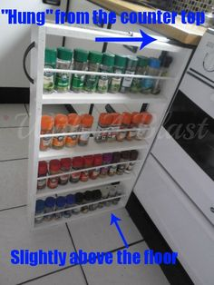 pantry cabinet kitchen diy rolling spice rack organizer this home 1410