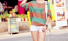 green and brown stripes.