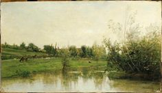 A corner of Normandy by Charles-Francois Daubigny. Realism. landscape