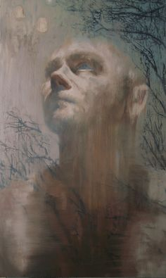 Morning Poem. Oil on canvas, 100cm x 60cm by Toni Cogdell