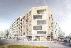 1. Preis Wettbewerb Baufeld 4 Olgaareal in Stuttgart Architekturbüro Neugebauer + Roesch Wohnen und Arbeiten in Stuttgart West