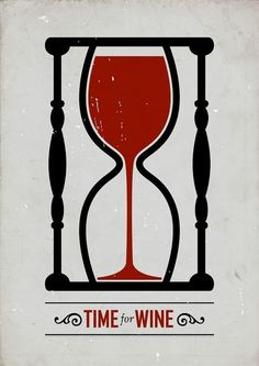 """Time For Wine"" poster design by Swedish graphic designer Viktor Hertz Wine Time, Graphisches Design, Logo Design, Wine Design, Clever Design, Smart Design, Vides, Wine Quotes, Wine Sayings"