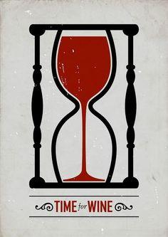 """Time For Wine"" poster design by Swedish graphic designer Viktor Hertz Wine Time, Graphisches Design, Logo Design, Clever Design, Smart Design, Vides, Wine Quotes, Wine Sayings, In Vino Veritas"