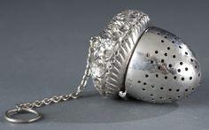 Schofield Sterling Silver Tea Ball, Acorn Motif
