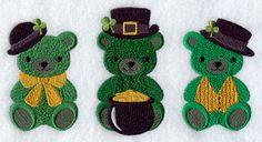 Irish Teddy Bear Trio