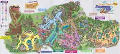Tomb Raider: Why One of the World's Best Theme Park Rides is Rotting in Plain Sight Island Theme, Island Map, Planet Snoopy, Theme Park Map, Soak City, Library Themes, Kings Island, Digital Signage, Family Travel