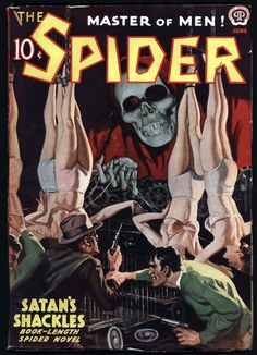 May 2016 Archives Pulp Fiction Characters, Pulp Fiction Art, Pulp Art, Pulp Magazine, Magazine Art, Spider Book, Comic Art, Comic Books, Horror Artwork