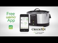 WeMo Crock-Pot® Slow Cooker | Crock-Pot®- Control your crockpot with your smart phone!