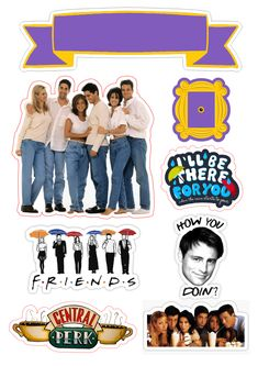 32419961 Top The tv show friends sticker pack stickers Monica Chandler Phoebe Ross Rachel Joey friends references Janice they don't know that we kn… Joey Friends, Friends Cake, Friends Moments, Friends Tv Show, Friends Episodes, Friends Series, Friend Birthday, Happy Birthday, Wallpaper Stickers