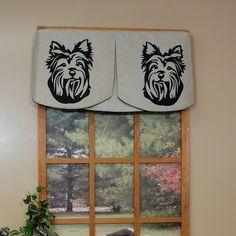 Faithful Companions 3 Piece Terrier Dog Valance Set