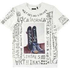 Ikks - Tee-shirt en jersey de coton - Blanc - 115612