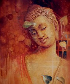 """Freedom is not worth having if it does not include the freedom to make mistakes.""    ~ Mahatma Gandhi  By:  Bhavana Buddha Painting    <3 lis"
