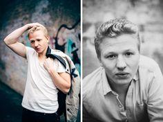 Portrait of the actor Lucas Grimstedt, August 2014.
