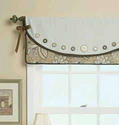 Picture Window Curtains And Window Treatments for 2020 No Sew Curtains, Curtains With Blinds, Valance Curtains, Valance Ideas, Valance Patterns, Drapery, Curtain Ideas, Roman Blinds, Picture Window Curtains