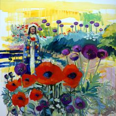 Sale  Radiant Woman 13 Poppy Saint Plein by MoniqueKenSarkessian