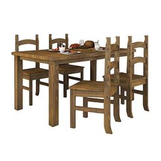 Conjunto Mesa Espanha + 4 Cadeiras Espanha - Dactylo