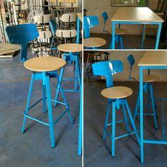Metal Stool, Metal Chairs, Cafe Furniture, Metal Furniture, Bar Stools, Paint, Inspiration, Design, Home Decor