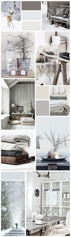 Winter MoodBoard Source by Cozy Living Rooms, Home And Living, Interior Exterior, Interior Design, Christmas Bedroom, Modern Country, Interior Inspiration, Moodboard Inspiration, Belle Photo