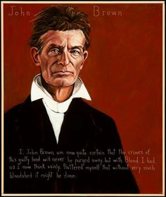 In 1859, John Brown (1800-1859) started a liberation movement among enslaved African Americans in Harpers Ferry, Virginia. He was arrested and tried for treason against the Commonwealth of Virginia for the murder of five men and inciting a slave insurrection. He was found guilty on all counts and was hanged. Historians argue that the Harpers Ferry insurrection in 1859 escalated tensions that led to secession and the American Civil War.
