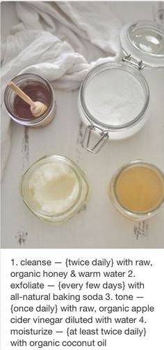The perfect all natural skin care routine :) oh yeah...I'm doing this.  its time to get white skin naturally