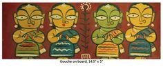 Jamini Roy's Art in Retrospect Worli Painting, Saree Painting, Hippie Painting, Fabric Painting, Madhubani Art, Madhubani Painting, Indian Folk Art, Indian Artist, Jamini Roy