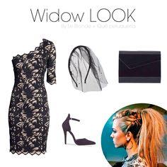 """WIDOW LOOK Con un vestido que puede ser un fondo de armario como este puedes hacer tu look perfecto para una noche de Halloween. Sólo necesitarás dar ese toque terrorífico con una diadema con tul negro y un peinado con mucho volumen y cardado. ¡Estarás de """"muerte""""!"""