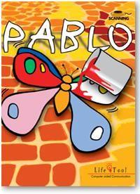 Malbuch mit Scanning. Pablo enthält 6 Spiele zum Anmalen und Nachmalen mit steigendem Schwierigkeitsgrad. Die erste Übung  kann mit einer Taste, die Übungen 2 bis 4 können mit 1 Taste beziehungsweise mit 2 Tasten gespielt werden. Zwei Übungen zum kreativen  Malen und Nachmalen sind mit Mausbedienung. Im Lieferumfang sind 350 Malbuchvorlagen in verschiedenen Schwierigkeitsgraden enthalten. Eigene Vorlagen können auch verwednet werden.